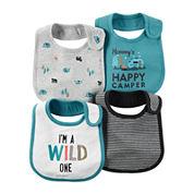 Carter's® 4-pk. Wild Print Blue Bibs - Baby Boys