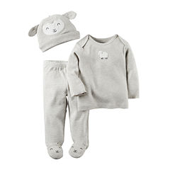 Carter's® 3-pc. Lamb Footed Layette Set - Babies newborn-24m