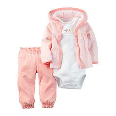 Carter's® 3-pc. Geo-Print Layette Set - Baby Girls newborn-24m