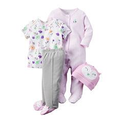 Carter's® 4-pc. Purple Owl Layette Set - Baby Girls newborn-24m