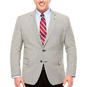 Stafford Yearround Stretch Black White Houndstooth Sport Coat-Classic