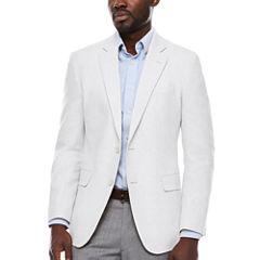 Stafford Linen Cotton White Sport Coat-Slim
