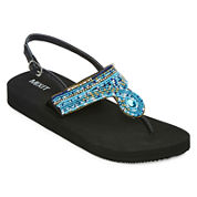 Mixit® Embellished T-Strap Sandals