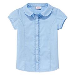 IZOD® Short-Sleeve Woven Top - Preschool Girls 4-6x