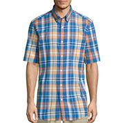 St. John's Bay® Short-Sleeve Madras Sport Shirt
