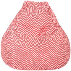 Cotton Zigzag Teardrop Beanbag