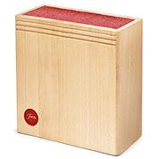 Fiesta® Wood Scarlet Bristle Knife Block