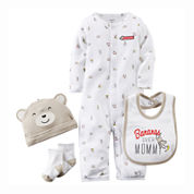 Carter's® 4-pc. Layette Set - Baby Boys preemie-9m