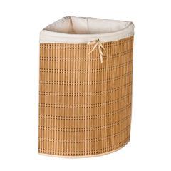 Honey-Can-Do® Bamboo Wicker Corner Hamper