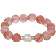 ROX by Alexa Coral Glass Stretch Bracelet