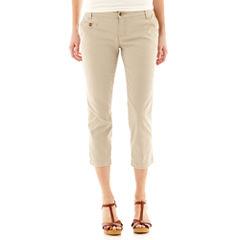 Arizona Schoolgirl Cropped Pants-Juniors