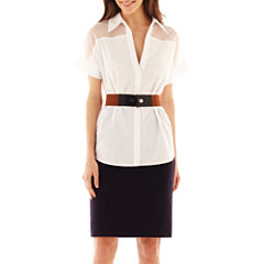Worthington® Belted Shirt or Pencil Skirt