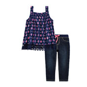 Arizona Crochet Tank Top or Denim Pants - Baby Girls 3m-24m