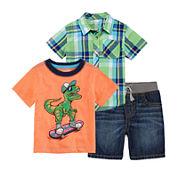Arizona Plaid Tee or Dreamer Tee or Classic Denim Shorts - Baby Boys 3m-24m