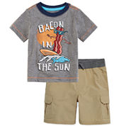 Arizona Short-Sleeve Dreamer Tee or Cargo Shorts - Baby Boys 3m-24m