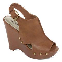 a.n.a Marigold Womens Wedge Sandals