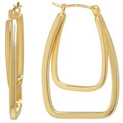 Sparkle Allure Brass Hoop Earrings