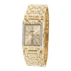 Mens Gold Tone Bracelet Watch-508881