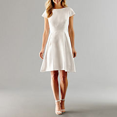 Alex Evenings Short Sleeve Fit & Flare Dress