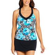 St. John's Bay Ring Back Tankini Mariska Swimsuit Top or Swim Skirt