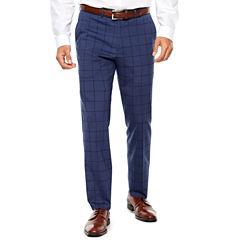 Nick Graham Blue Black 2-pc. Suit Sets-Slim