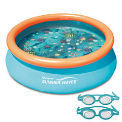 Blue Wave 3D Quick Set Round Family Pool - 7-ft