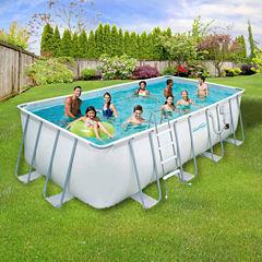 Summer Waves Elite 9-ft x 18-ft Rectangular 52-inDeep Metal Frame Swimming Pool Package