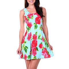 White Mark Celica Sleeveless Sheath Dress