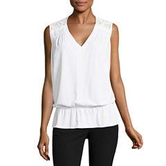 Worthington Sleeveless V Neck T-Shirt