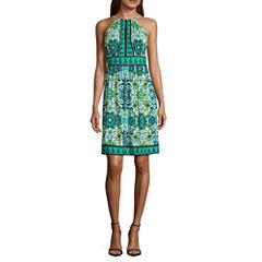 London Style Sleeveless Sundress-Petites