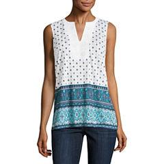 Liz Claiborne Embellished Knit Tank Top
