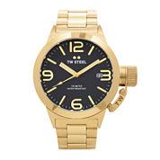 TW Steel Canteen Bracelet Mens Gold-Tone Stainless Steel Link Watch