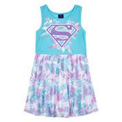 DC Comics® Superhero Watercolor Shield Dress - Girls 7-16