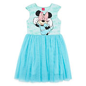 Disney Collection Minnie Mouse Cap-Sleeve Mesh Dress - Girls 7-16