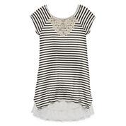Knit Works® Cap-Sleeve Striped Swing Dress - Girls 7-16