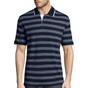 Claiborne® Short-Sleeve Interlock Striped Polo