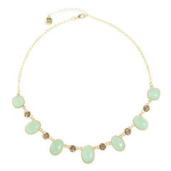 Monet Jewelry Womens Green Collar Necklace