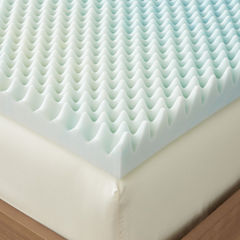 Restful Solutions Supreme Textured 3 Inch GEL Memory Foam Topper