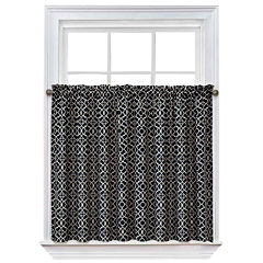 Waverly® Lovely Lattice Rod-Pocket Window Tiers