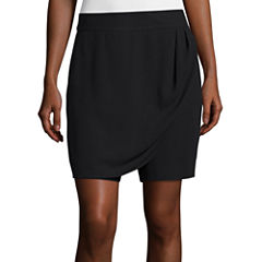Liz Claiborne® Mid-Rise Wrap Skort - Tall