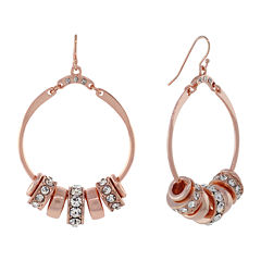 nicole by Nicole Miller® Rose Gold-Tone Circle Earrings w/ Crystal Accents