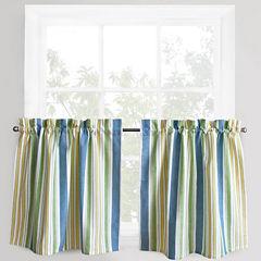 Park B. Smith® Cape Cod Striped Rod-Pocket Window Tiers