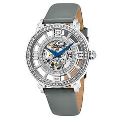 Stuhrling Womens Gray Strap Watch-Sp16343