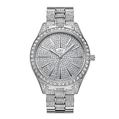 JBW Cristal Stainless Steel 0.12 C.T.W Diamond Accent Womens Silver Tone Bracelet Watch-J6346c