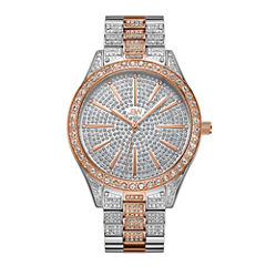JBW Cristal Stainless Steel 0.12 C.T.W Diamond Accent Womens Two Tone Bracelet Watch-J6346e