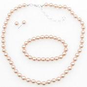 Vieste Rosa Womens 3-pc. Pink Brass Jewelry Set