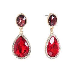 Monet Jewelry Multi Color Drop Earrings