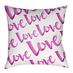 Decor 140 Eternal Love With White Background Square Throw Pillow