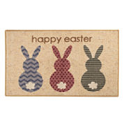 Brumlow Rabbit Easter Printed Rectangular Rugs