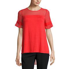 Worthington Short Sleeve Crew Neck T-Shirt